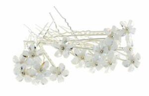 épingle à chignons fleur cristal blanc accessoires bijou de cheveux mariage