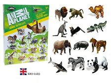 ANIMAL PLANET 3D PUZZLE SET Construction Assembly Kit Craft Zoo Animals Gift Box