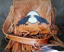Boho Hand Crafted Artisan Leather Bag with FRINGE...**OOAK** Made in USA