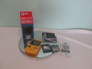 Game Boy Color Yellow Dandelion CGB-001 With Super Mario Deluxe & Chase Carts