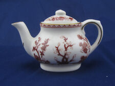 Coalport England Indian Tree Red & White Bone China Mini Teapot Tea Pot 3 1/4""