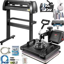 8 In 1 Heat Press 12x15 Transfer Machine 34 Vinyl Cutterplotter Cutting Diy