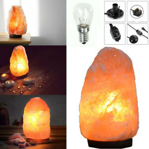 Natural Himalayan Rock Pink Salt Lamp with DIMMER Switch Cable Fitting + Bulb