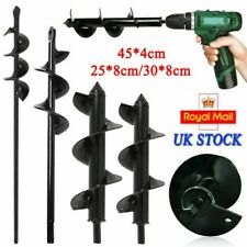 More details for planting auger spiral hole drill bit for garden yard earth bulb planters tool uk