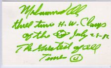 MUHAMMAD ALI SIGNED AUTOGRAPHED INDEX CARD TRUE 1/1 JSA COA PSA