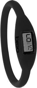 Brand New Genuine Breo Roam 16cm Small Black Digital Silicone Strap Watch