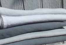 Bundle Vintage French grey Fabric Patches Antique Workwear Hemp Linen Squares