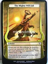 Magic - 1x The Mighty Will Fall - Archenemy Nicol Bolas - Oversized Scheme