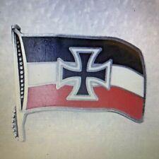 WW1 WW 11 German Iron Cross Flag Badge