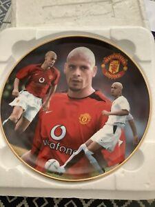 Rio Ferdinand Man Utd Danbury Mint Plate with COA Manchester United Ceramics