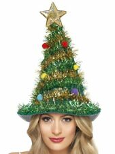 Funny Christmas Tree Hat Fancy Dress Accessory Comedy Tinsel Smiffys 41067