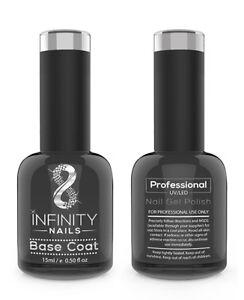 INFINITY NAILS Base coat - nail gel polish - UV/LED - NO WIPE Top available 15ml