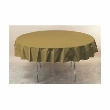 Amscan International Plastic Tablecover Round Gold