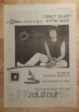 Robert Plant In the mood Tour 1983 press advert Full page 39 x 28 cm mini poster