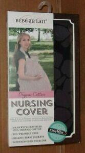 Bebe Au Lait Midnight Black Organic Cotton Nursing Cover  J
