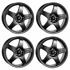 4 x Team Dynamics Pro Race 3 Gloss Anthracite Alloy Wheels 15x7"