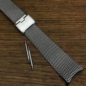 rare Universal Geneve ug 18mm Stainless Steel Mesh 1960s nos Vintage Watch Band