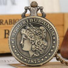 "Bronze ""Morgan Half Dollar"" Coin Pocket Watch/ Impressive Conversation Piece!"