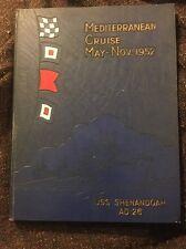 Mediterranean Cruise Yearbook USS Shenandoah AD26 May-Nov 1952 Vintage Hardcover