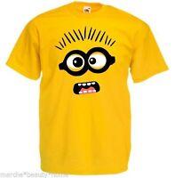 men's minion t shirt loose fit fotl despicable me medium yellow casual tee