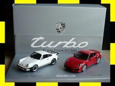 PORSCHE History Set 40 Jahre 911 turbo 930 991 MINICHAMPS 1:43 PROMO NEU