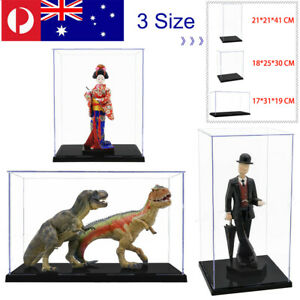 Large Acrylic Display Case Clear Perspex Box Plastic Dustproof Figures 3 Size AU
