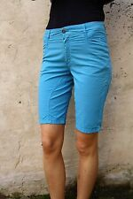 SIVIGLIA JEANS LADIES SPORT BLUE DENIM JEANS SHORTS STRETCH FIT W28 Uk10 ITALY