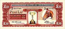 SET OF 4 PHAR LAP MELBOURNE CUP  NOVELTY BANK NOTES 10s 1 5 10 POUND pre decimal