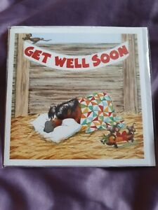 Get Well Soon card Funny Get Well Card horse greetings card horses pony humour