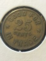 Vintage Token, F.P. Good For 25 Cents In Trade Vintage Coin T16
