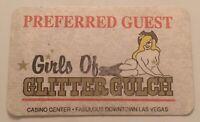GIRLS OF GLITTER GULCH CASINO LAS VEGAS, NV. PREFERRED GUEST CARD