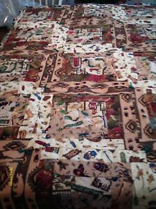 """37"""" x 62"""" Medium - """"Camping We Will Go"""" - Quilt/Throw (Cotton/Flannel) New"""