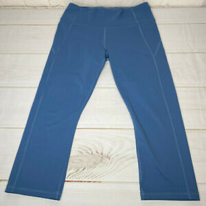 Under Armour Womens Pants Leggings Small Blue Waist Pocket Missing Care Tag Flaw