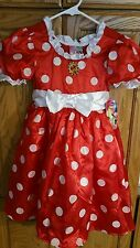Disney Nwt Minnie Mouse Red Polka Dot Costume Small Sm S 5/6 5 6