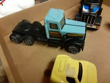 "Vtg Tonka Semi Truck 16"" Jerry's Auto Movers, blue ox log hauling, dunes buggy"