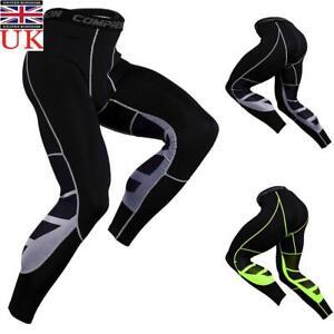 Men's Compression Sport Gym Workout Running Pants Base Layer Tight Leggings UK