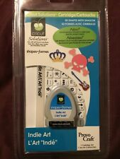 Cricut Cartridge Indie Art 50 Shapes With Shadow Retired Rare Brand New IP