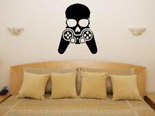 GAMER Calavera - XBox PS PlayStation WII Adhesivo de pared decorativo imagen
