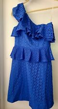 Lilly Pulitzer Womens Eyelet Ruffel Blue Size 2 Dress NWT