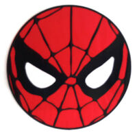 "Giant 10"" Spider-Man Mask Embroidered Back Patch- Iron On"