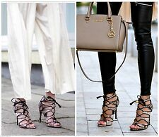 ZARA SNAKE PRINT LEATHER HIGH HEEL SANDALS LACE UP SHOES BOOTS SOLD OUT