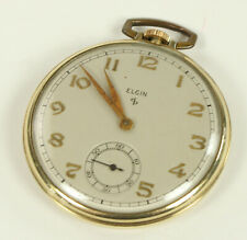 ELGIN POCKET WATCH VINTAGE 12 SIZE 15 JEWEL 10K GOLD FILLED 19-127