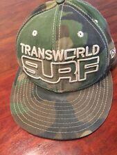 Transworld Surf Magazine Camo Vintage Surfing Surfboard New Era Fitted Hat Cap