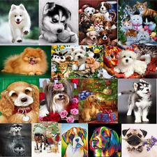DIY 5D Dog Diamond Sticker Rhinestone Cross Stitch Painting Home Decor Animal