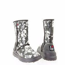 UGG I Heart Kisses Women's Shoes Gray Sequin Short Boots Size 5 M, EU 36 NEW