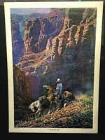 "Vintage Jimmie Abeita ""Packing In"" Art Poster"
