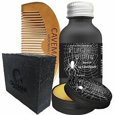 Hand Crafted Caveman® Beard Oil Conditioner + Beard Balm + FREE Comb + Soap KIT