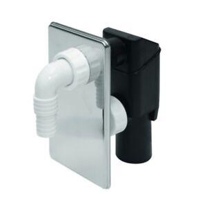 UP-Sifon chrom Waschmaschinenablauf Gerätesiphon Unterputzsifon Wandeinbausifon