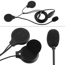 Motorcycle Helmet Headphone Headset 3.5mm Adjustable Microphone Bicycle Bike SS