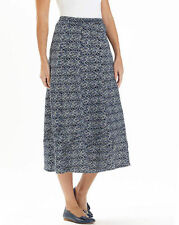 A-Line Geometric Plus Size Skirts for Women